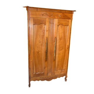 Country French Cherry Antique Armoire For Sale