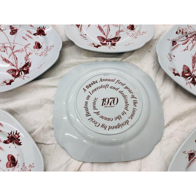 Mid 20th Century Vintage Set Cecil Beaton Spode Plates For Sale - Image 5 of 7