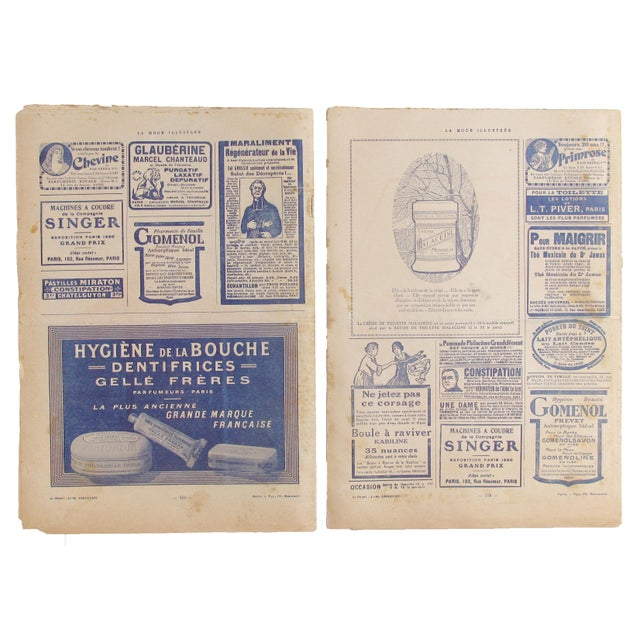 C.1920 French Fashion Magazines, Pair For Sale - Image 4 of 5