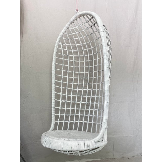 Vintage Hanging Rattan Egg Chair For Sale In Tampa - Image 6 of 13