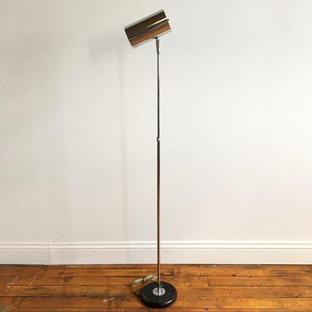 Vintage Mid Century Modern Adjustable Chrome Floor Lamp - Image 2 of 6