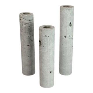 Trio of Concrete Vases - Set of 3 For Sale