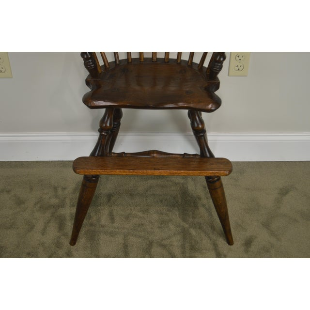 Windsor Style Childs Youth Arm Chair by K. Malone (18th Century Reproduction) For Sale In Philadelphia - Image 6 of 13