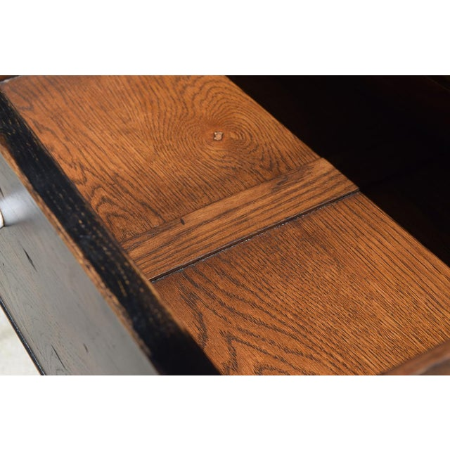1990s Danish Modern Alden Parkes iReclaimed Wood Sofa/Console Table For Sale In Raleigh - Image 6 of 10