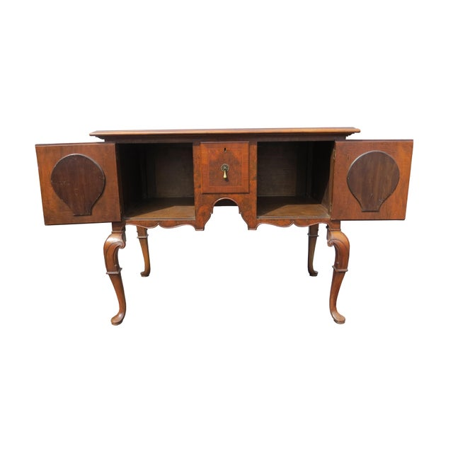 Brown 1920s Chippendale Tobey Furniture Company Walnut and Burl Lowboy For Sale - Image 8 of 13