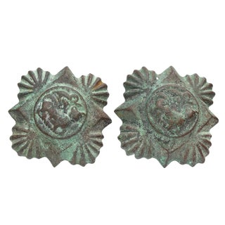 Vintage Patinated Tiebacks - A Pair For Sale