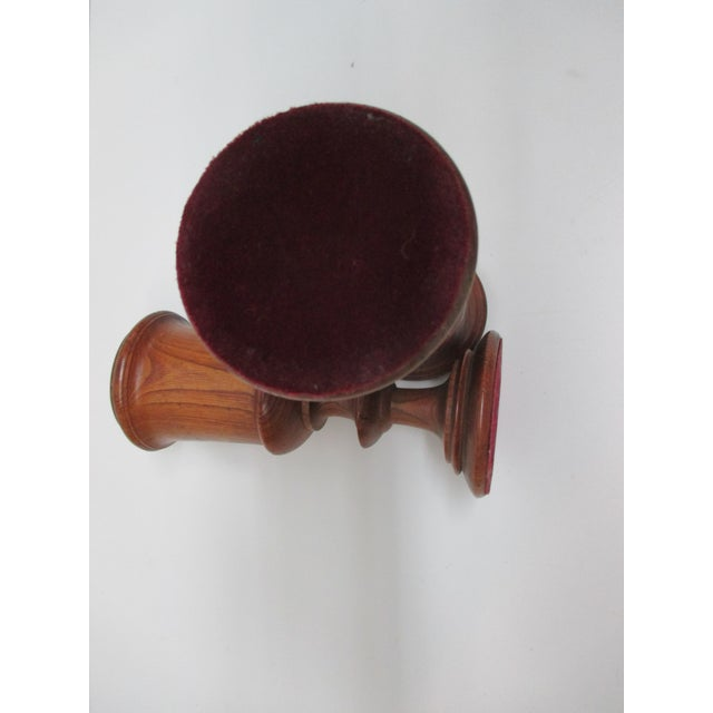 19th Century Pair of English Antique Wooden Cups For Sale - Image 5 of 6