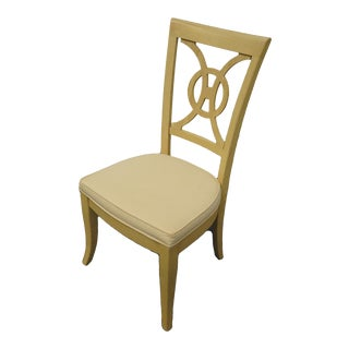 Late 20th Century Stanley Furniture Concentrics Collection White Washed Splat Back Dining Side Chair For Sale