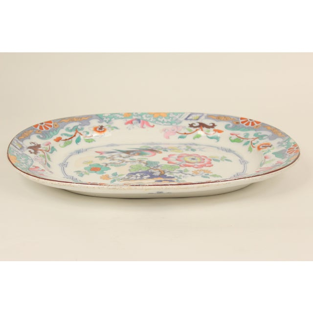 19th Century Ironstone Platter For Sale - Image 9 of 12