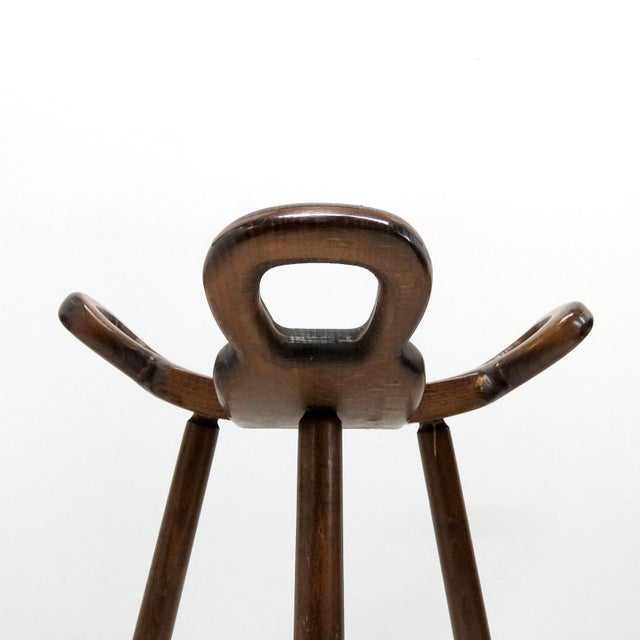 "Brutalist 1970s Vintage Confonorm Brutalist ""Marbella"" Bar Stools- Set of 3 For Sale - Image 3 of 11"