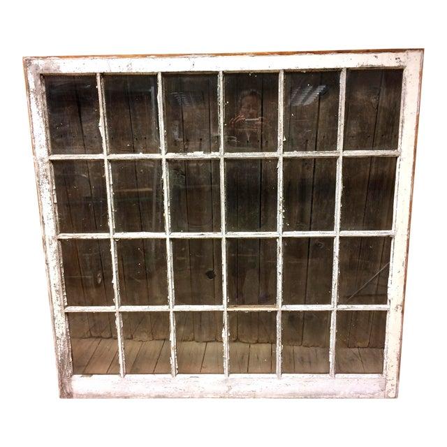 Vintage 24 Pane Wood Window - Image 1 of 11