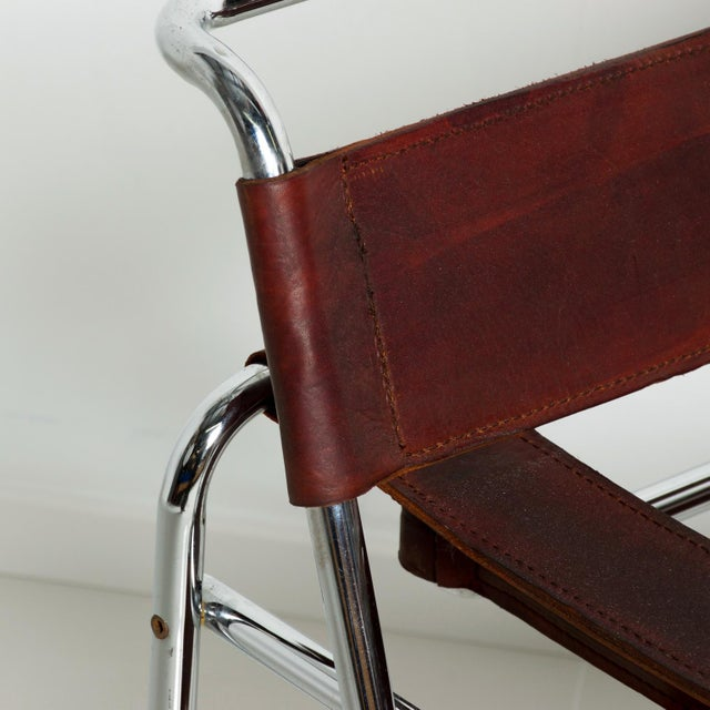 Pair of Marcel Breuer Wassily Chairs for Gavina, Mid Century Modern Italy For Sale - Image 10 of 11