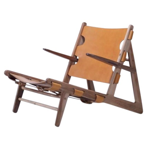 Mid-Century Modern Borge Mogensen Inspired Hunting Chairs - a Pair For Sale - Image 3 of 9