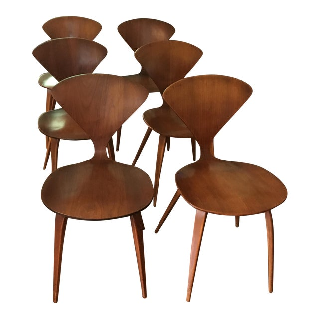 Mid-Century Modern Norman Cherner for Plycraft Chairs - Set of 6 - Image 1 of 7