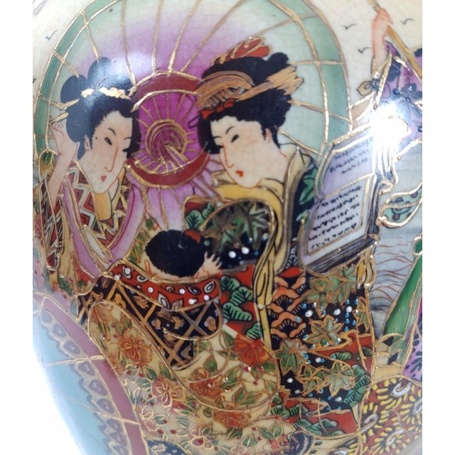 Mid 20th Century Vintage Mid-Century Royal Satsuma Lamp For Sale - Image 5 of 8