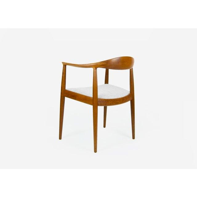 """Danish Modern teak armchair model JH 503 - """"The Chair"""" designed by Hans Wegner for Johannes Hansen. Fully marked...."""