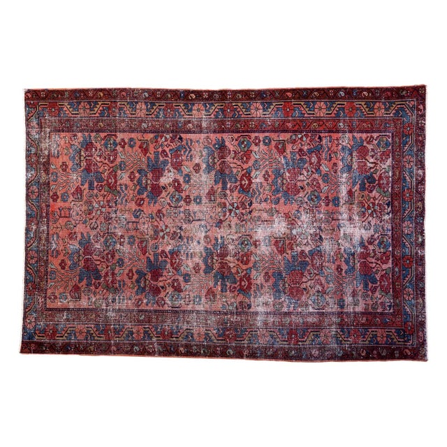 "Distressed Antique Lilihan Rug - 4'3"" X 6'5"" - Image 1 of 8"