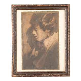 """Native American Woman Portrait"" Original Photograph by Edward Curtis For Sale"