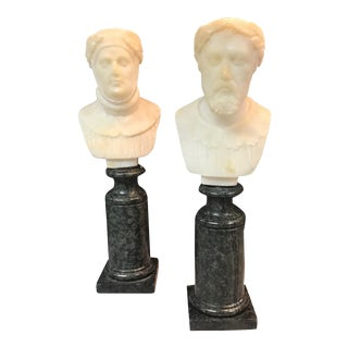 19th Century Italian Grand Tour Busts - a Pair For Sale