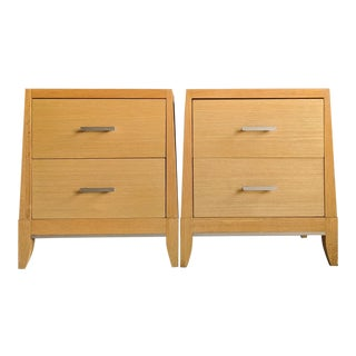 Geometric Sculptural Oversized Nightstands, a Pair For Sale