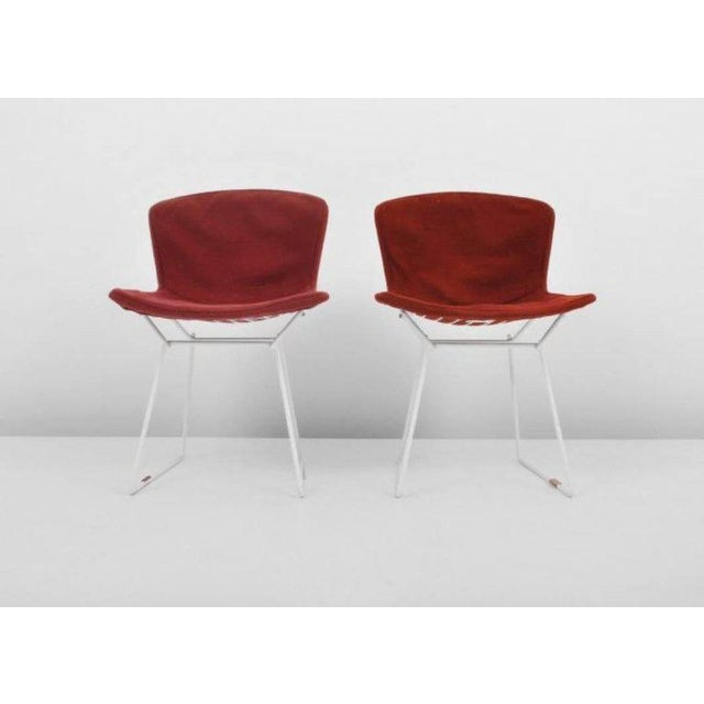 Contemporary Harry Bertoia Wire Chairs for Knoll International, Early Production Set of Six For Sale - Image 3 of 8