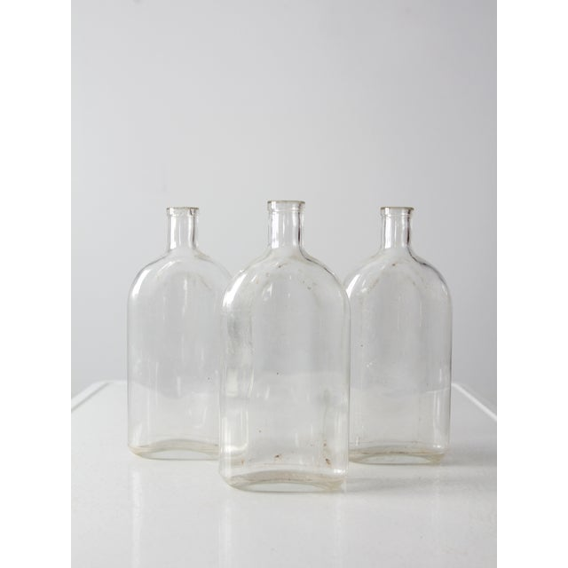 Antique Pyrex Apothecary Bottle Collection - - Set of3 For Sale - Image 9 of 9