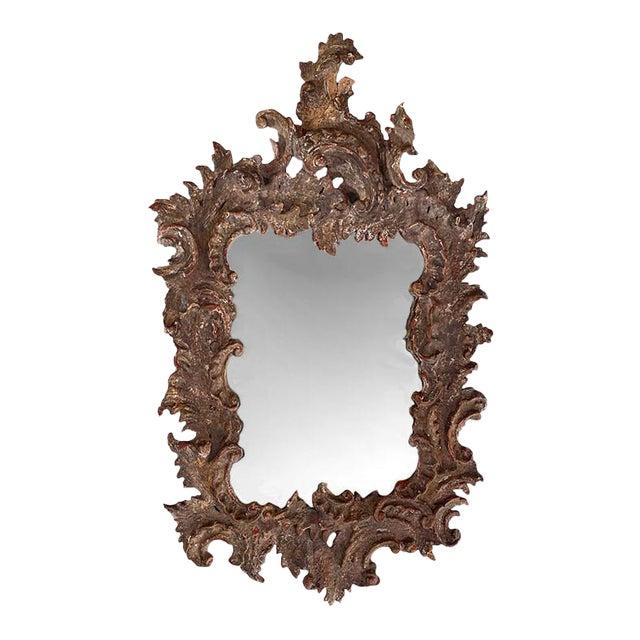 Antique Gessoed Mirror For Sale