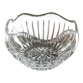 1980s House of Igor Carl Faberge Crystal Bowl