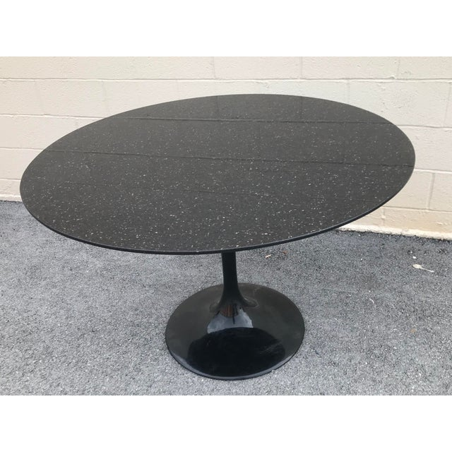1980s Contemporary Marble Tulip Dining Table For Sale - Image 9 of 9