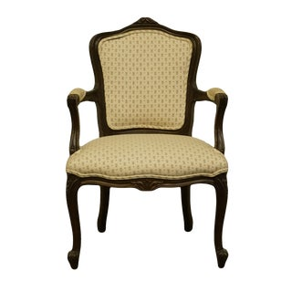 Ethan Allen Traditional Classics Country French Provincial Upholstered Accent Arm Chair For Sale