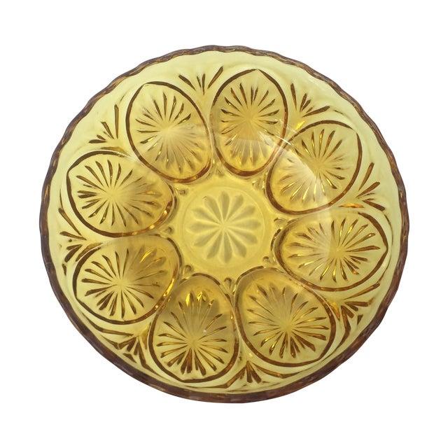 Yellow Glass Bowl - Image 1 of 3