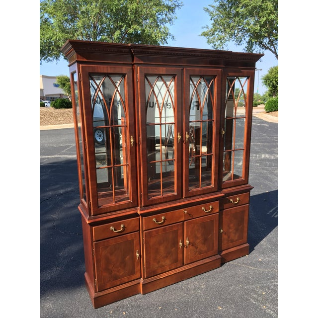 Ethan Allen Breakfront China Cabinet - Image 8 of 8