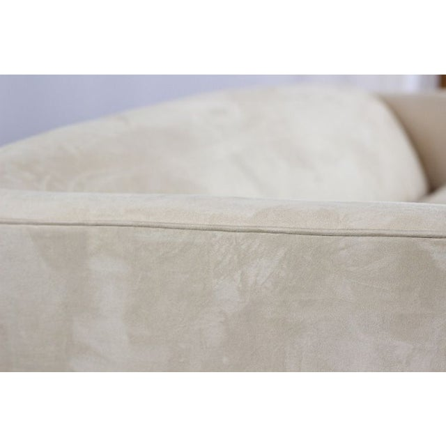 Contemporary Single Cushion Ivory Sofa For Sale - Image 4 of 4