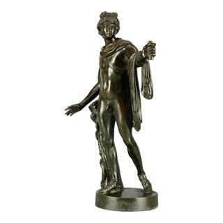 Antique Neoclassical Style Bronze Sculpture of Apollo Belvedere Signed G.Zofoli For Sale