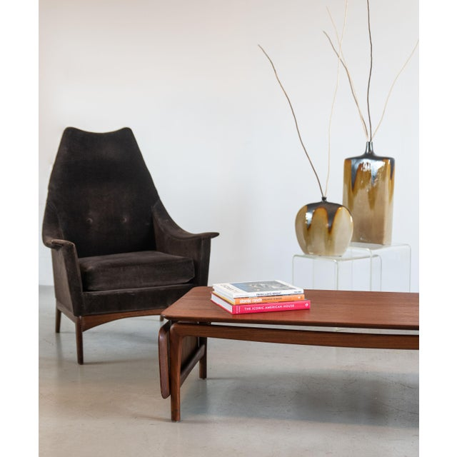 1960s 1960s Adrian Pearsall Attributed High-Back Lounge Chairs - 2 Pieces For Sale - Image 5 of 8