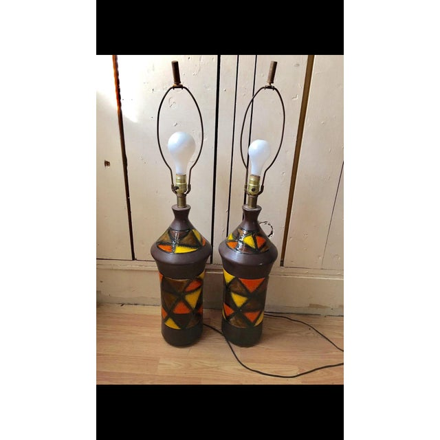 1960s 1960s Aldo Londi for Bitossi Lamps - a Pair For Sale - Image 5 of 6