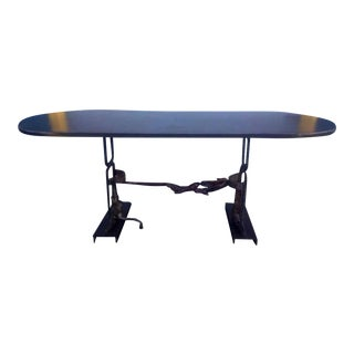 Industrial Metal Dining Table