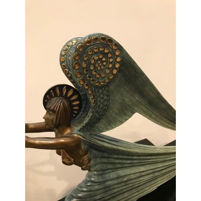 "1984 Erte Ltd Ed ""Angel"" Bronze Sculpture by Romain De Tirtoff For Sale - Image 9 of 13"