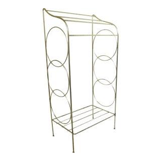 Brass Metal Wire Towel Rack For Sale
