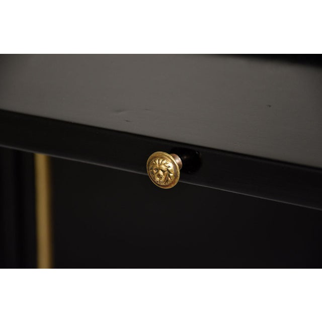 French Louis XVI-style Ebonized Desk - Image 6 of 10