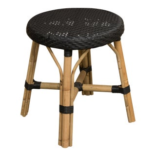 Sika Design Black Polystrand Rattan Low Stool