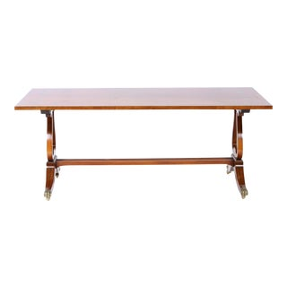 English Mahogany Coffee Table For Sale