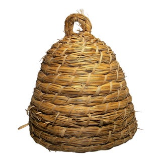20th Century French Straw Bee Skep For Sale