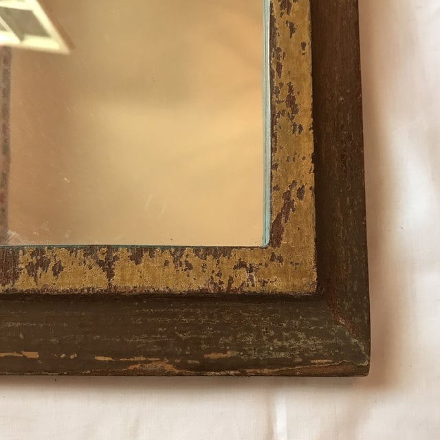 Vintage Indian Archway Painted Teak Mirror For Sale - Image 5 of 11