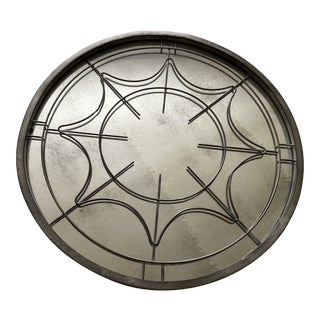 Round Silver Wall Mirror For Sale