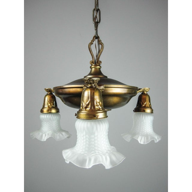 Original Pan Light Fixture (3-Light) - Image 3 of 8