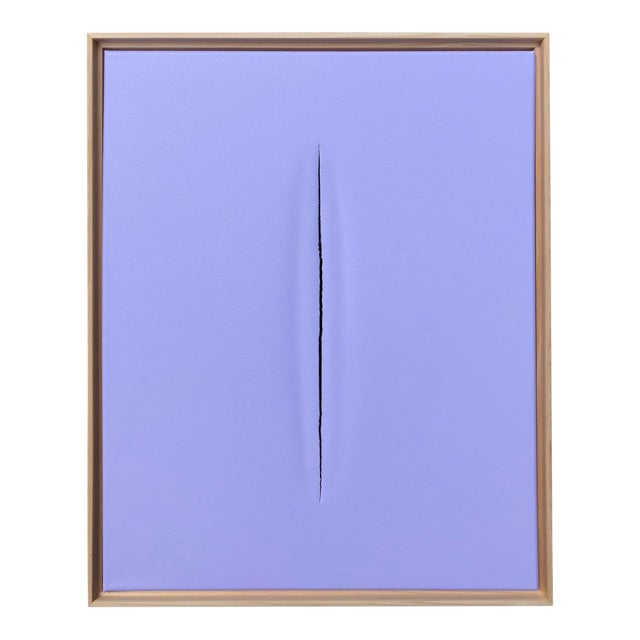 Abstract Purple Modern Art Painting by Tony Curry For Sale - Image 3 of 3