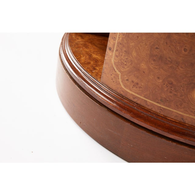 Revolving Circular Library Bookcase of Bird's-Eye Maple For Sale - Image 10 of 12