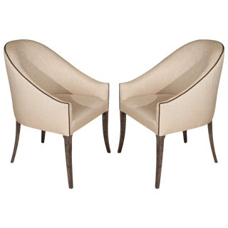 Modern Spoon-Back Style Occasional - Club Chair For Sale