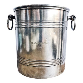 Vintage Silver Plated Champagne Bucket From La Coupole Paris For Sale